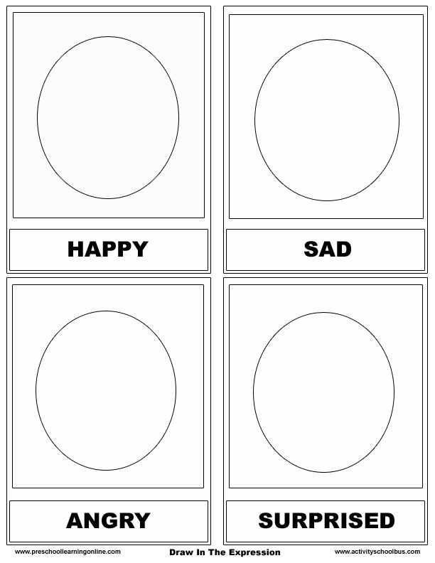 Emotions Worksheets For Preschoolers 775459
