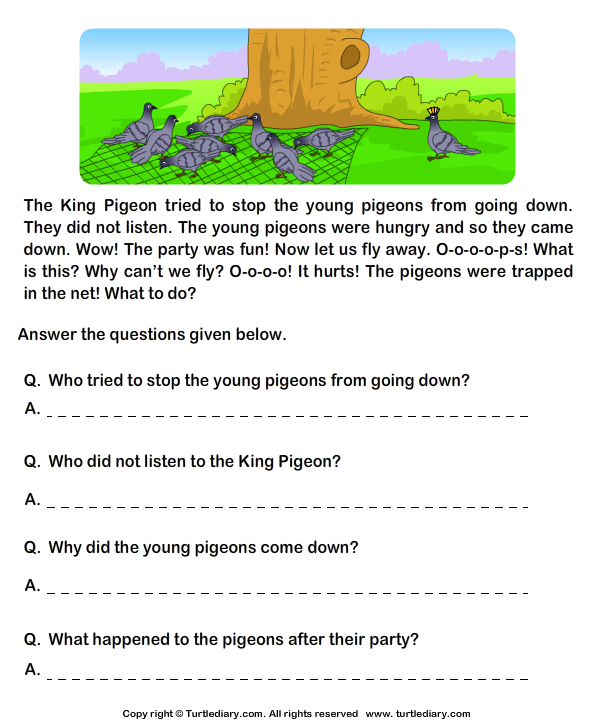 English Comprehension Passages With Questions  139093