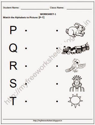 English Free Worksheets For Kindergarten