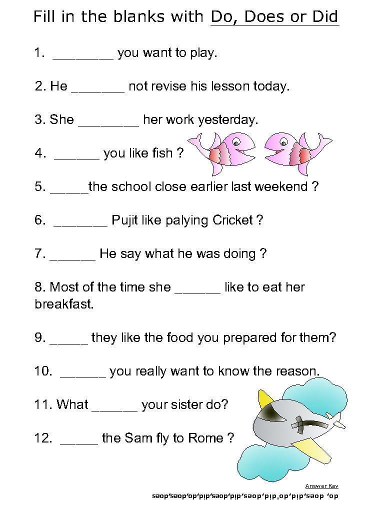 English Grammar Do Does Worksheet  1926964