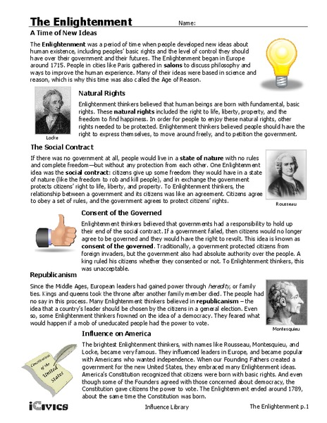 Enlightenment Worksheets The Best Worksheets Image Collection