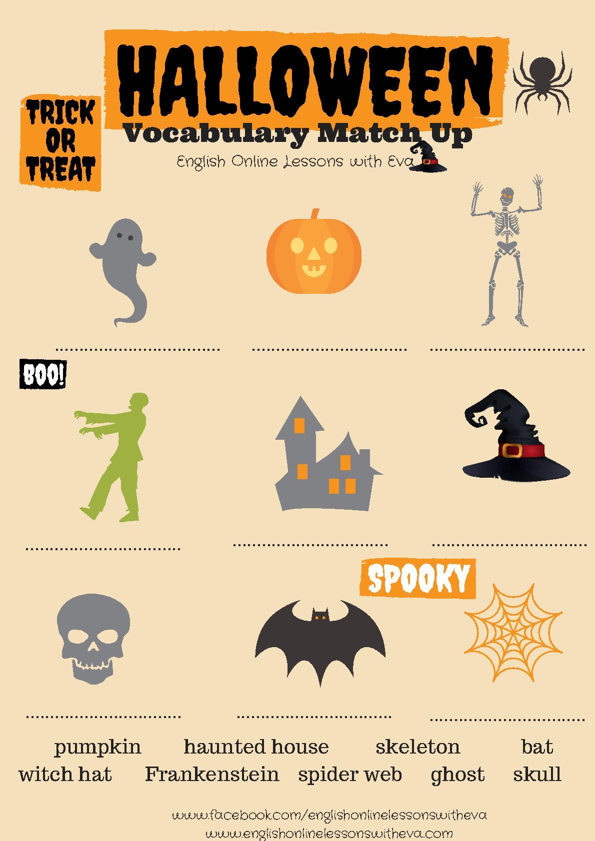Esl Halloween Worksheets Kindergarten 467257