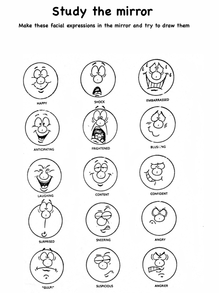 Facial Expressions Worksheet 502392