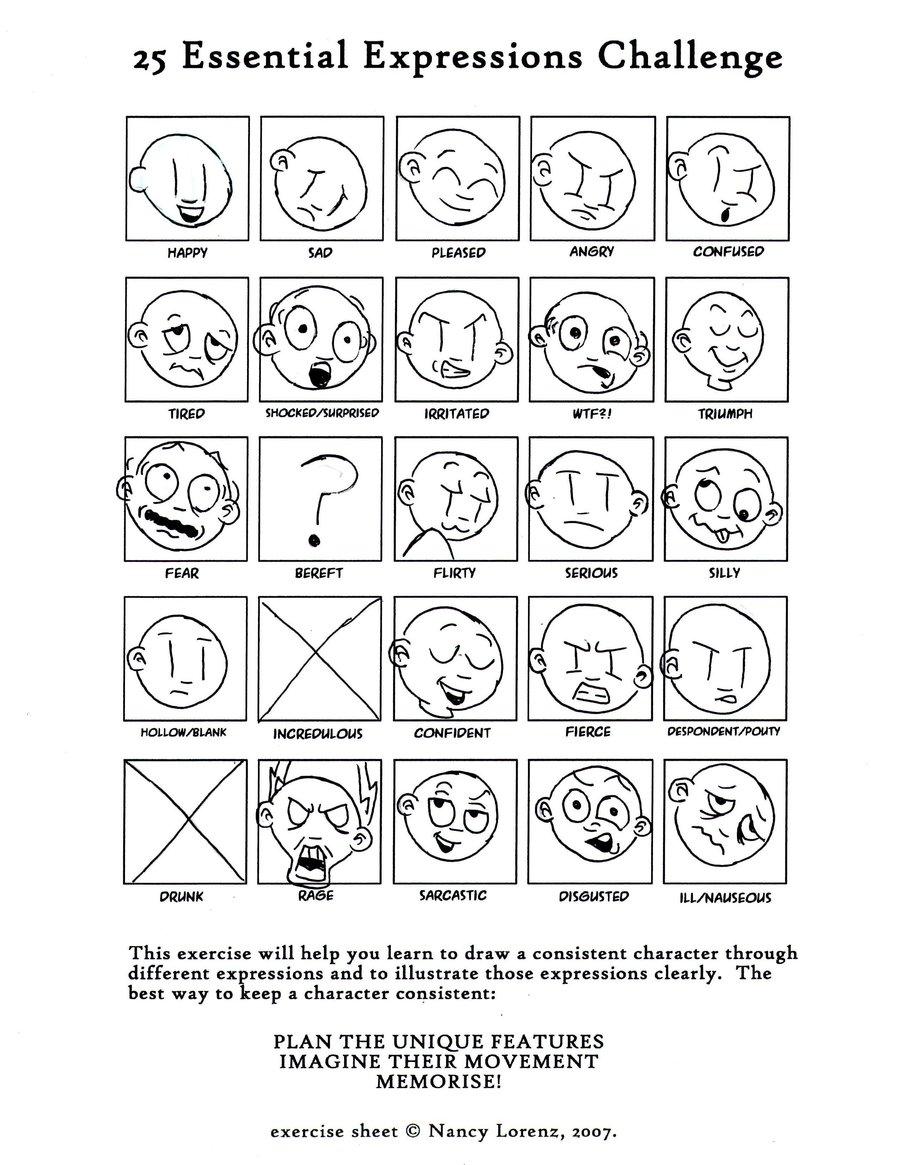 Facial Expressions Worksheet 502398