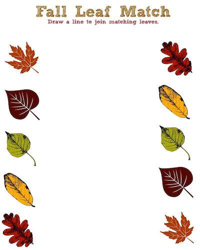 Fall Leaf Printable Activity Sheet