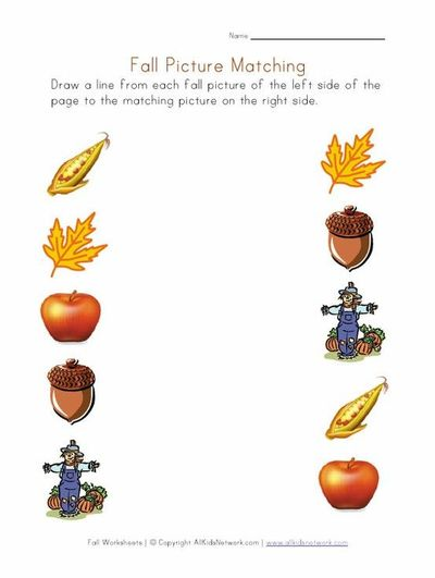 Fall Worksheets For Several Different Skills   Preschool Items