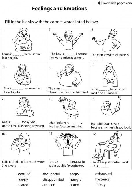 Feeling Identification Worksheets The Best Worksheets Image