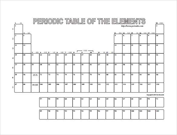Fill In The Blank Periodic Table Worksheet The Best Worksheets