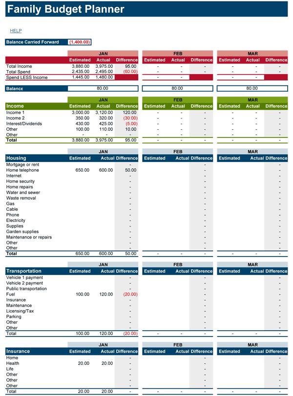 Financial Planner Worksheet 661662