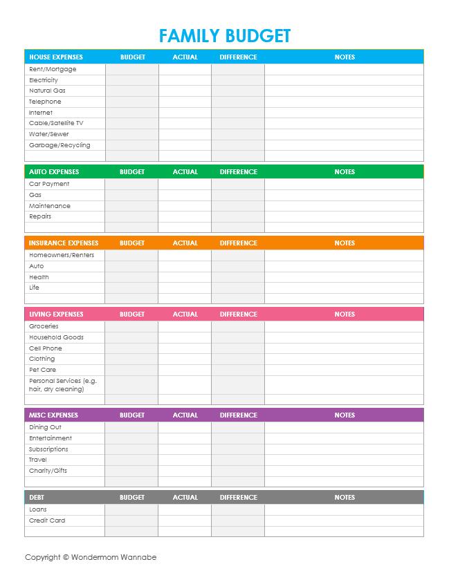 Financial Planner Worksheet 661664