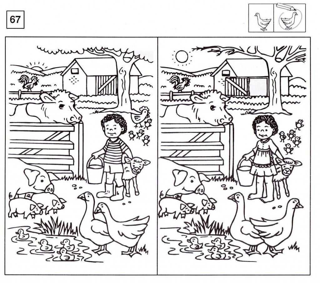 Find The Difference Math Worksheets Lovely Spot The Difference