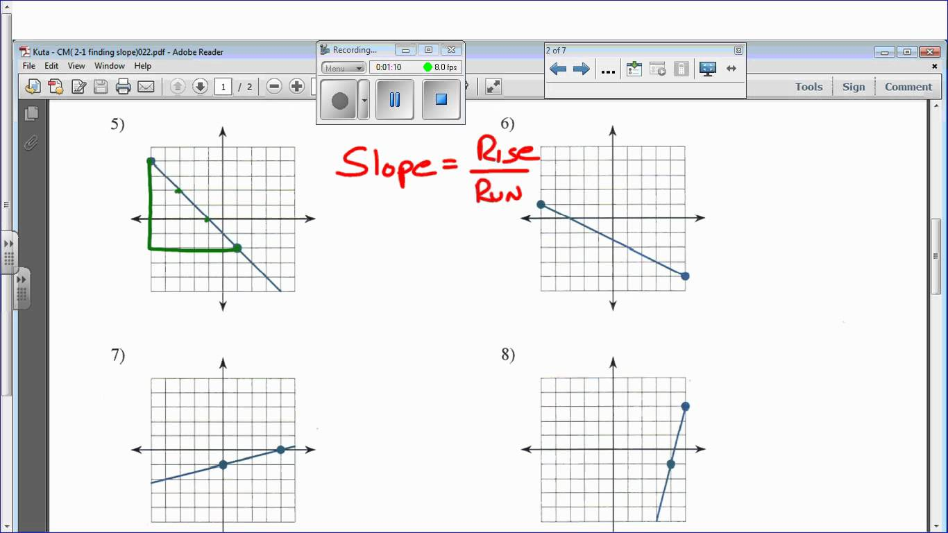 Finding Slope From An Equation Worksheet The Best Worksheets Image