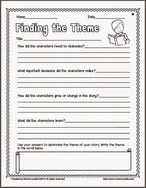 Finding The Theme Of A Story Worksheets The Best Worksheets Image