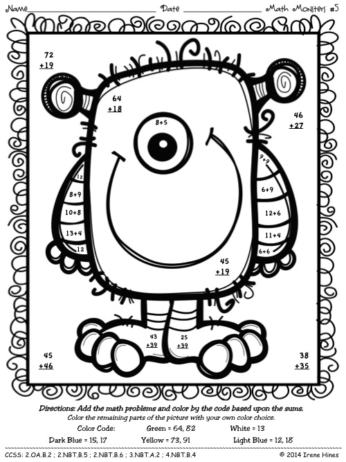 Free 2 Digit By 2 Digit Multiplication Coloring Worksheets  522005