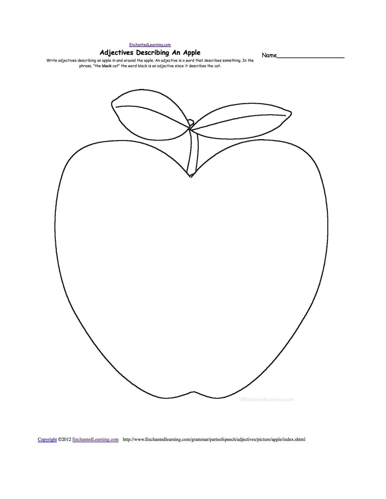 Free Apple Worksheets For Kindergarten