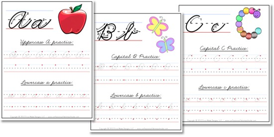 Free Cursive Handwriting Worksheets For Names