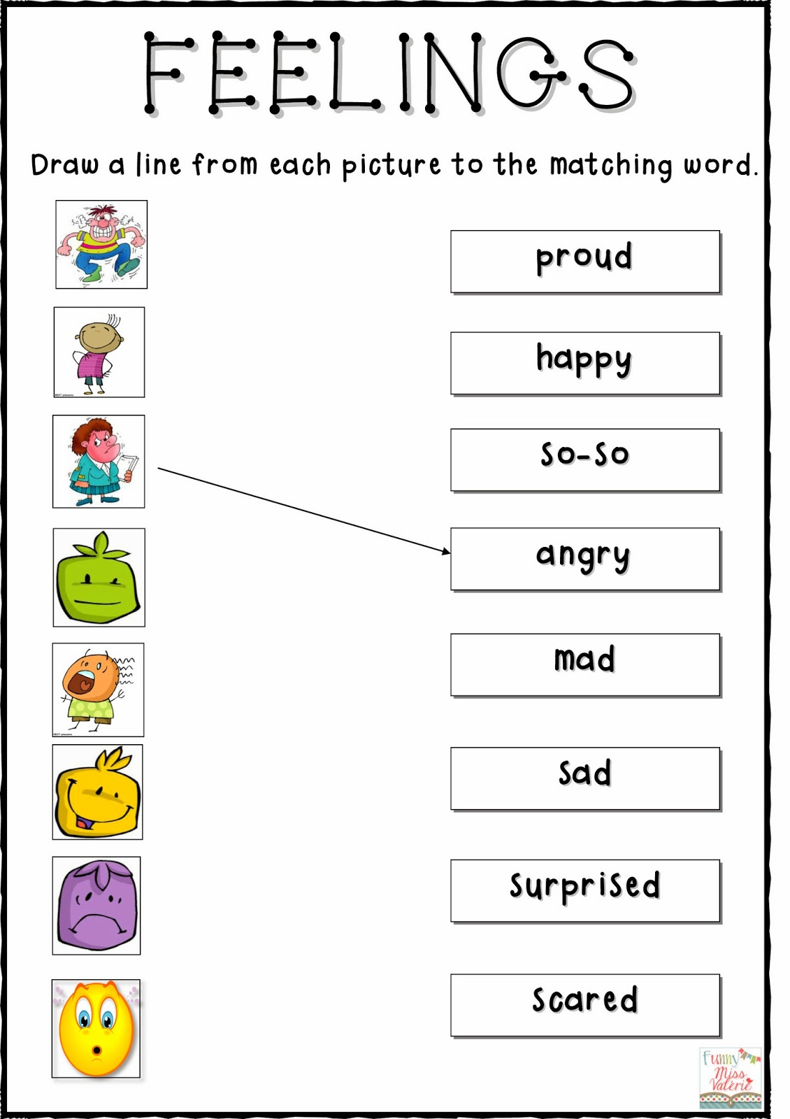 Free Emotions Worksheets For Kindergarten 371119