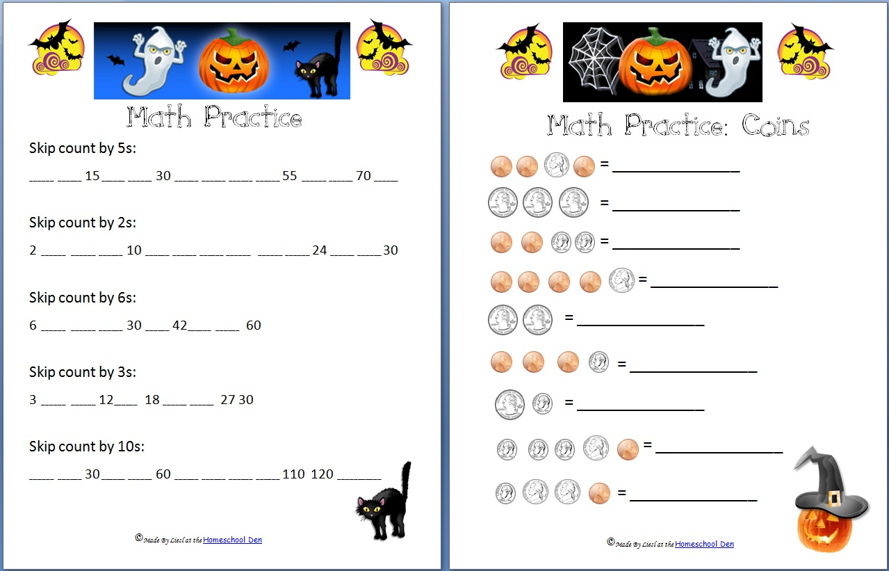 Free Halloween Math Worksheets For Kindergarten 1105620