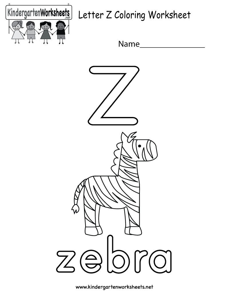 Free Kindergarten English Worksheets Printable And Online Alphabet