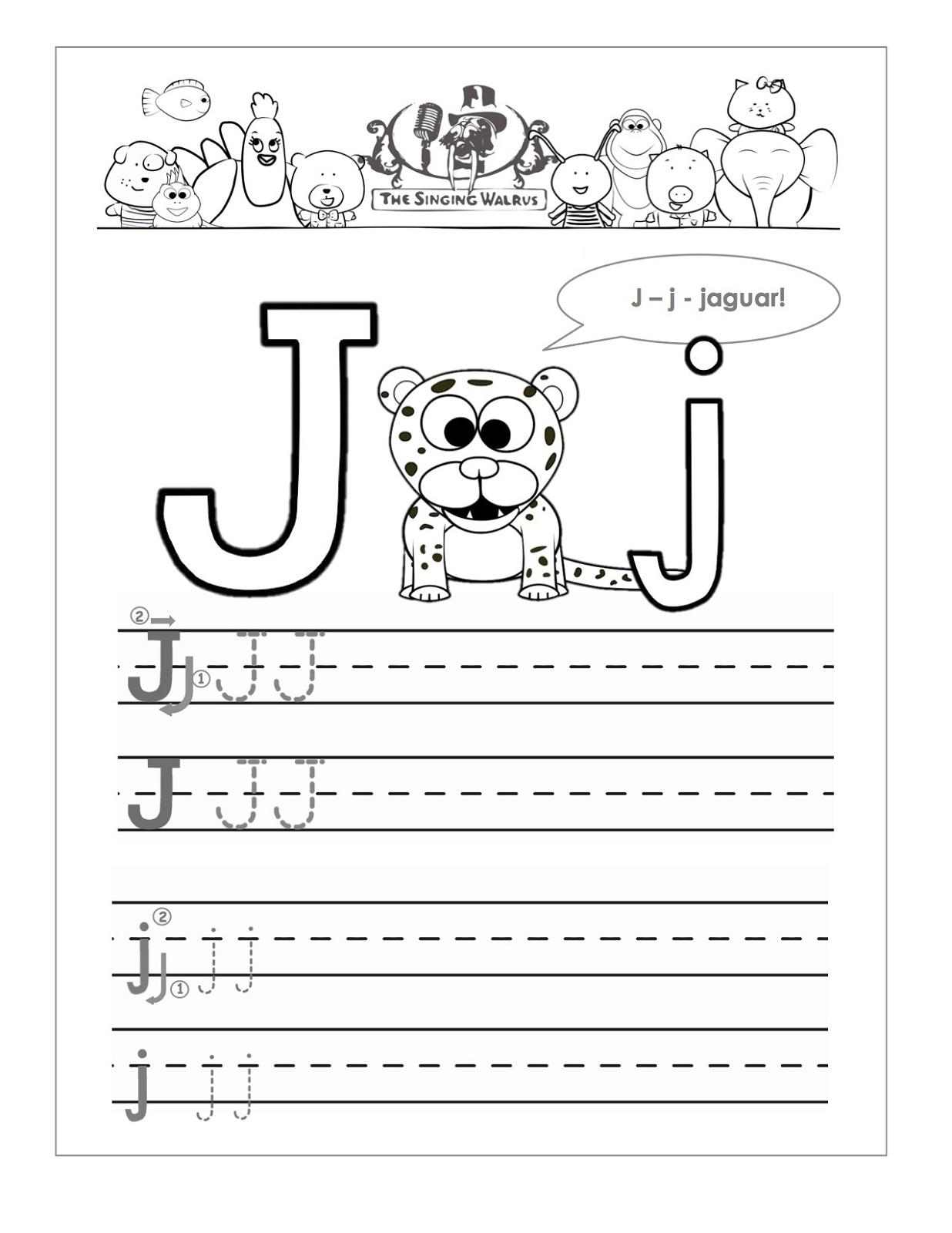Free Letter J Worksheets For Kindergarten 657760