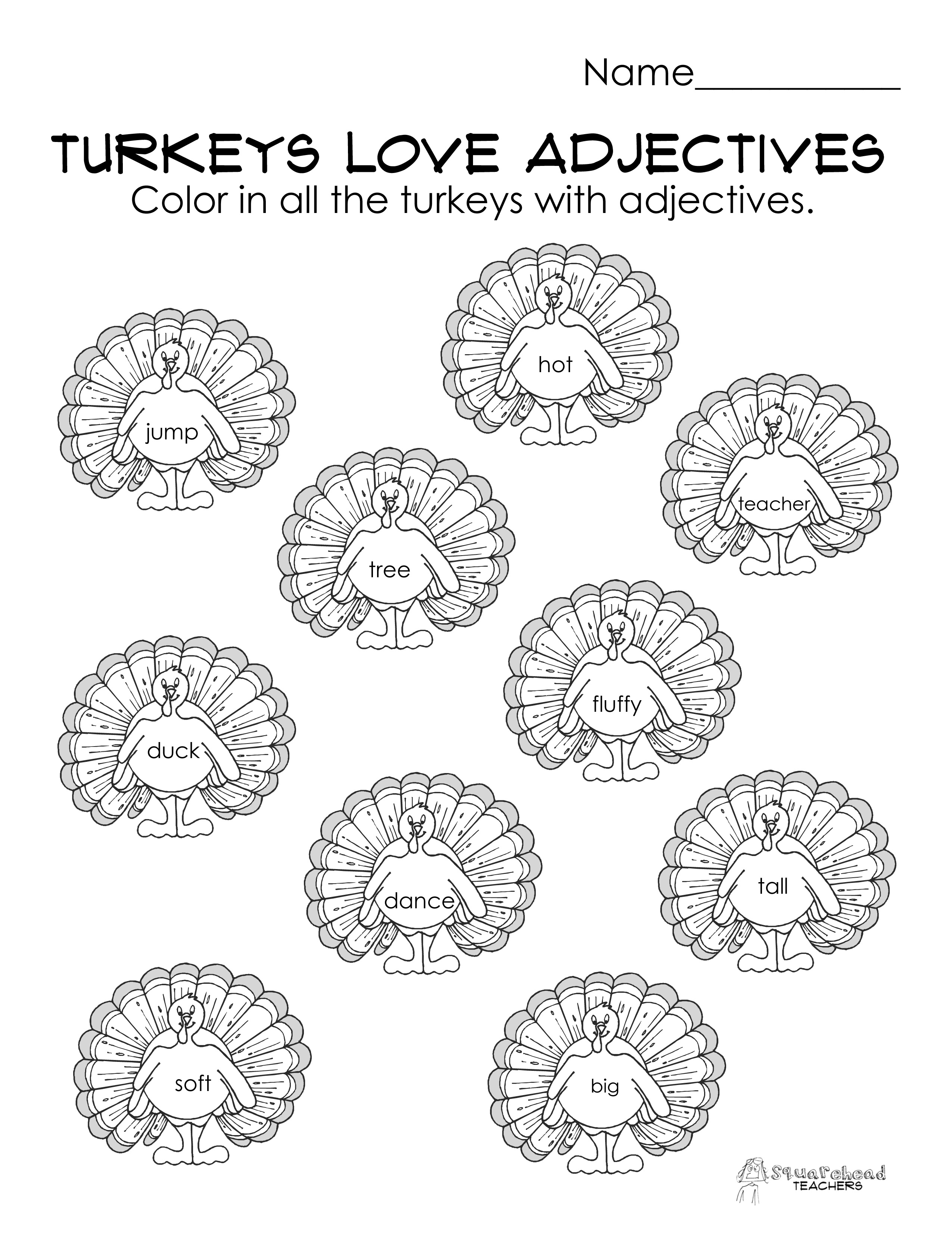 Free Printable Adjective Worksheets For Kindergarten 800901