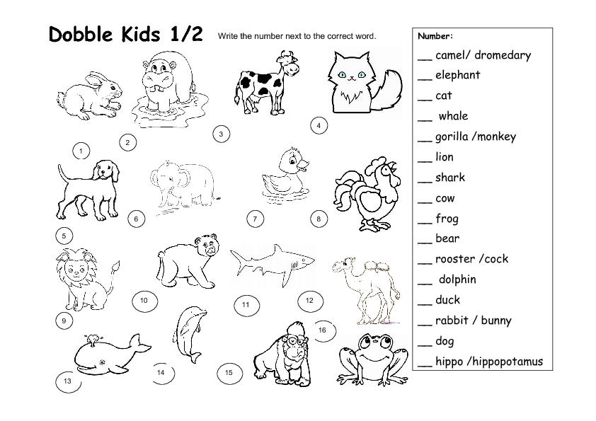 Free Printable Animal Worksheets For Preschoolers 1130472