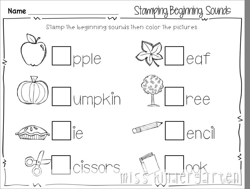 Free Printable Autumn Worksheets