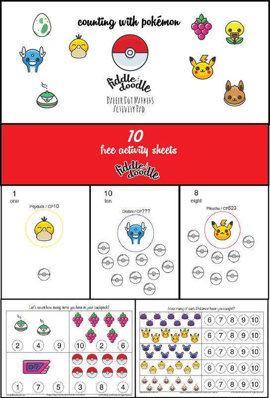 Free Printable Pokemon Go Inspired Dot Marker Sheets For Toddlers