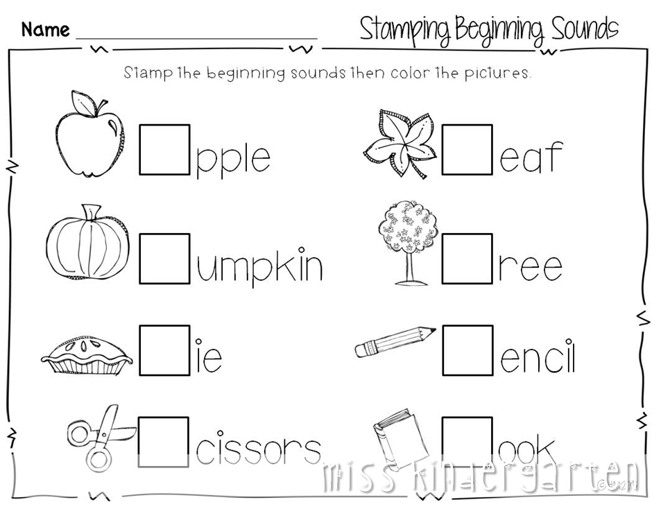 Free Printable Preschool Fall Worksheets 905704