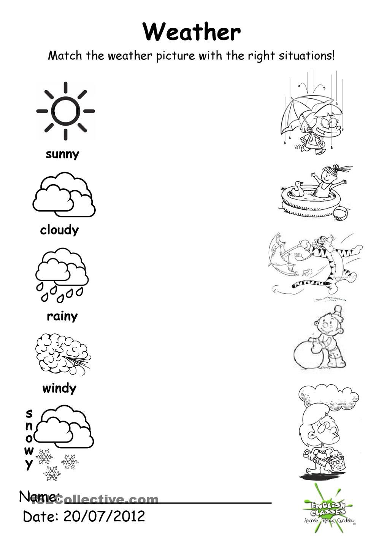 Free Printable Weather Worksheets Kindergarten 296095