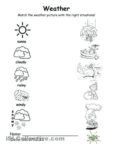 Free Printable Weather Worksheets Weather Worksheet Kindergarten