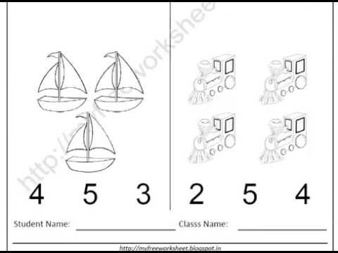 Free Printable Worksheets For Evs Nursery Children