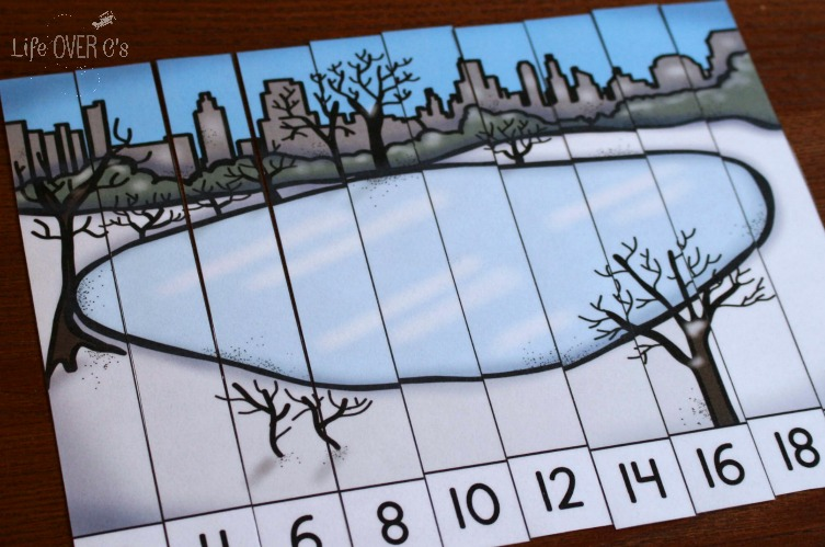 Free Skip Counting Printable Puzzles For Winter