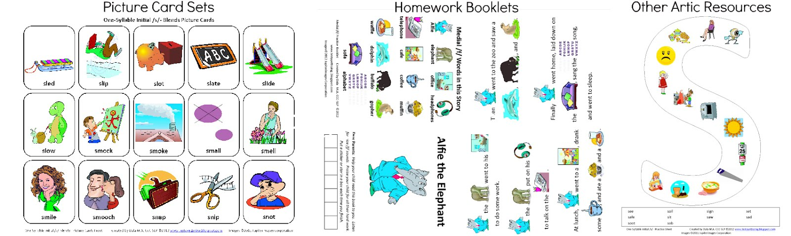Free Speech Therapy Worksheets