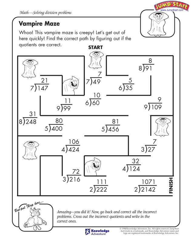Fun Math Worksheets For Fourth Grade  378109