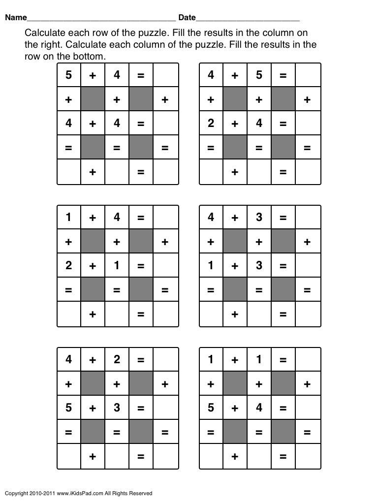 Fun Math Worksheets Middle School 1406264