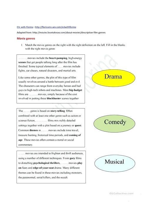 Genres Worksheets – Cycconteudo Co