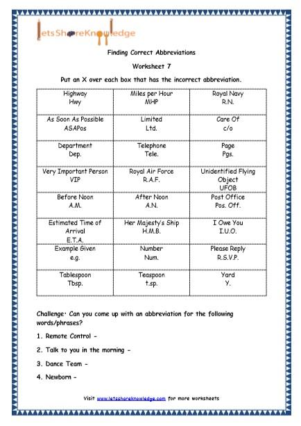 Grade 4 English Resources Printable Worksheets Topic