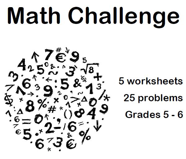 Grade 5 Math Challenge Worksheets 275106