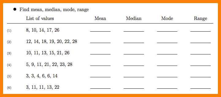 Grade 6 Math Worksheets Mean Median Mode  14904