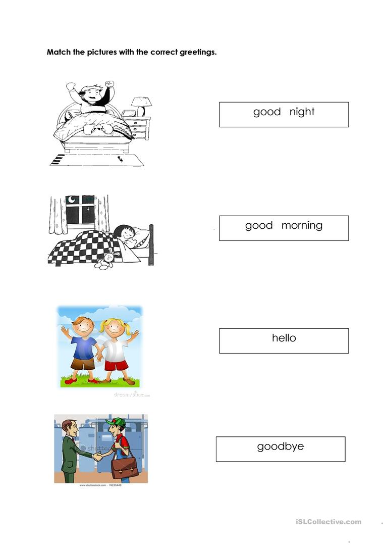 Greetings Worksheets For Kindergarten 1184284