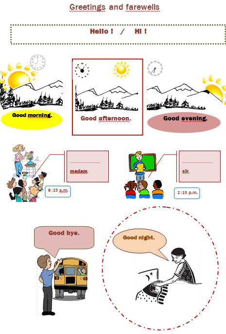 Greetings Worksheets For Preschoolers  155597