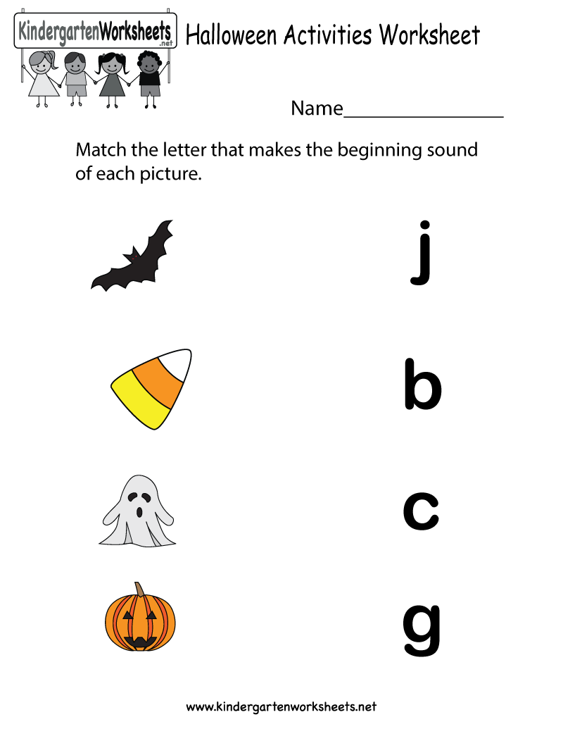 Halloween Activity Worksheets Kindergarten 217826