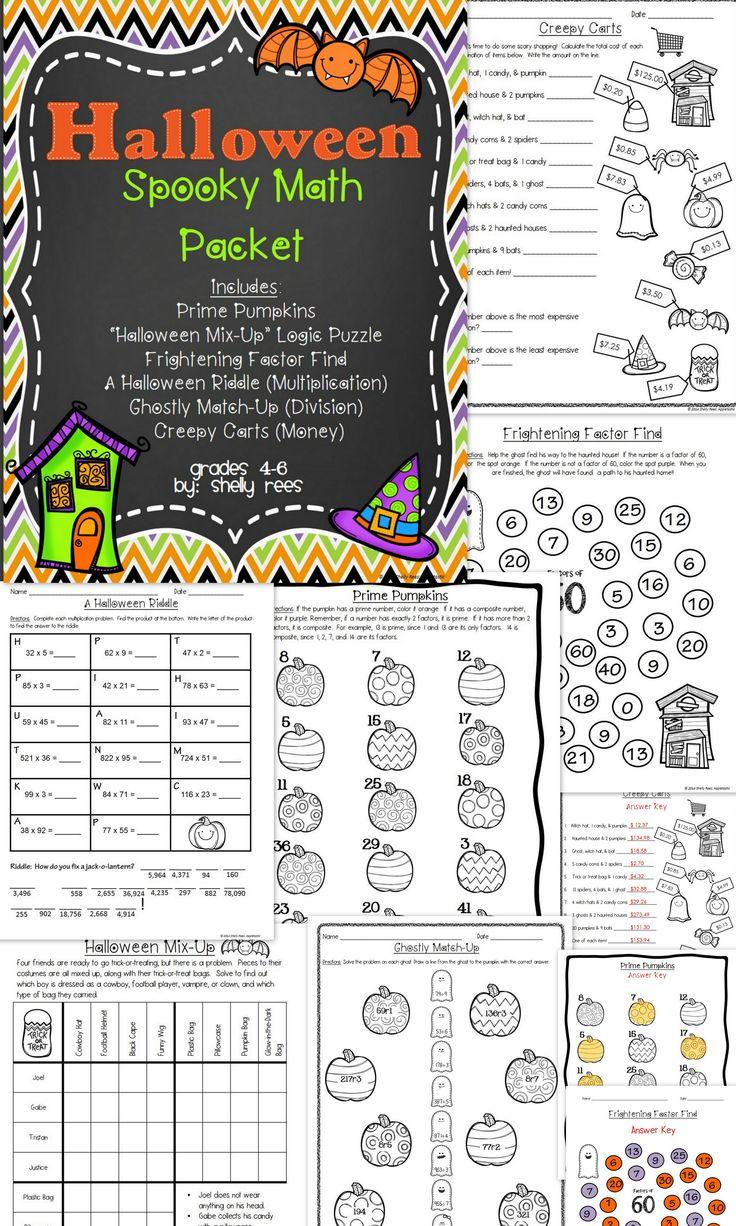 Halloween Math Worksheets Grade 6 142479