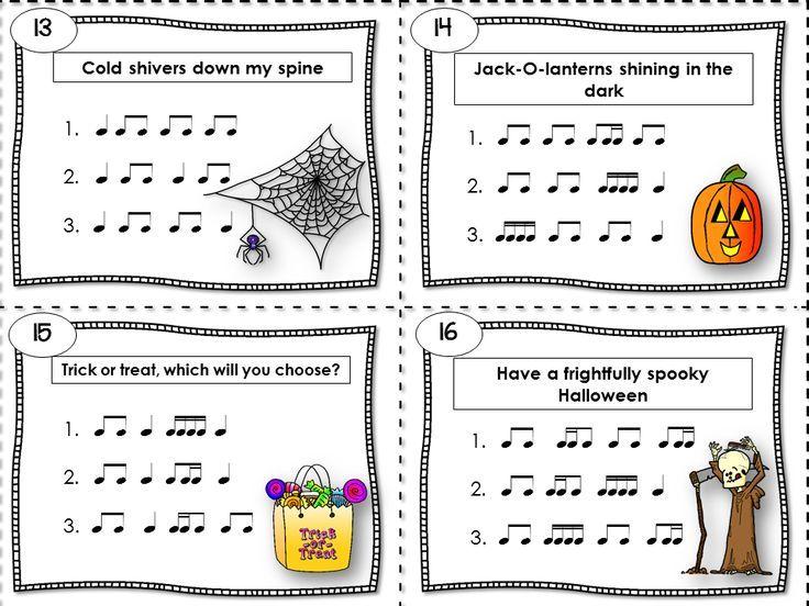 Halloween Rhythm Sheets – Fun For Christmas