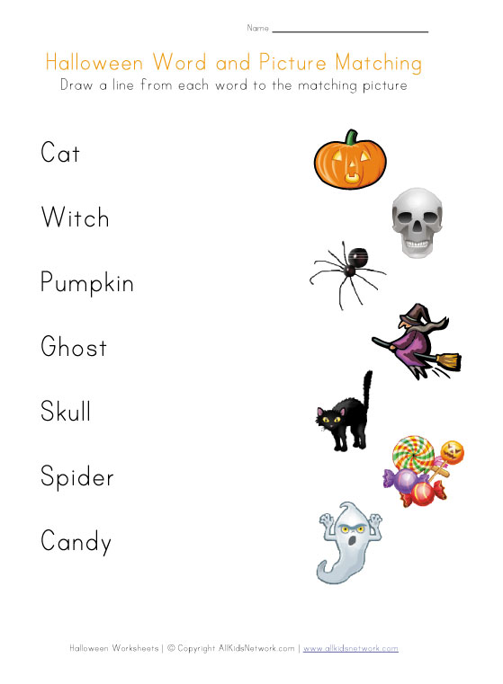 Halloween Worksheet For Preschool