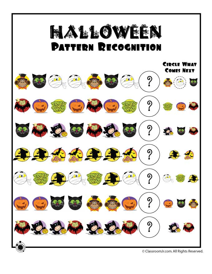 Halloween Worksheets Printables For Preschoolers 349001