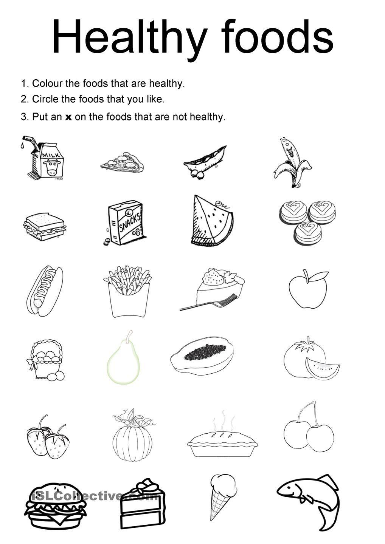 Healthy Food Choices Worksheets Kindergarten 554527