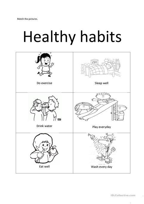 Healthy Habits Worksheets For Preschool  547667