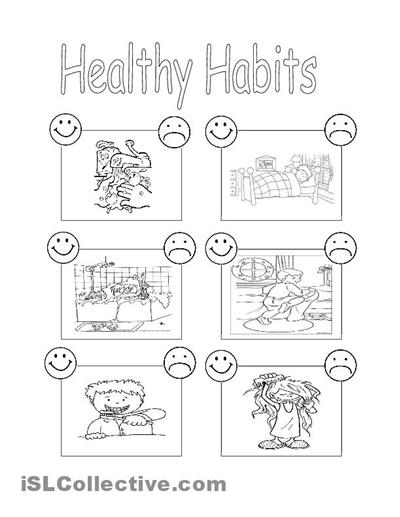 Healthy Habits Worksheets For Preschool  547677
